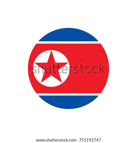 North Korea flag, official colors and proportion correctly. National North Korea flag. Vector illustration