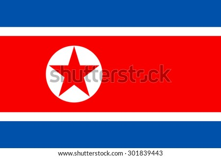 north korea flag vector