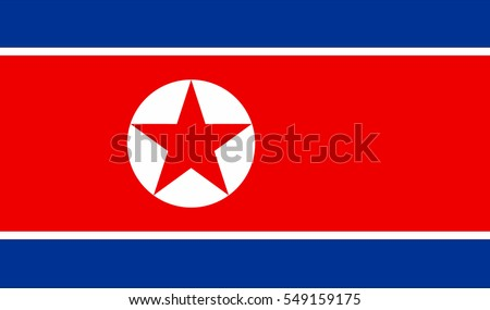 North Korea flag vector icon.