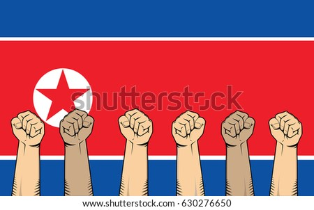 north korea protest fight