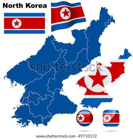 north korea vector set