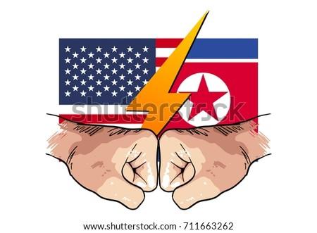 north korea vs america  hand