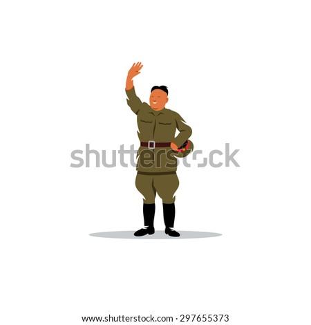 north korean soldier in uniform