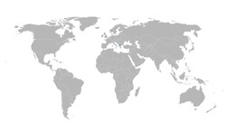 North macedonia location on world map. Gray background. Business concepts and backgrounds.