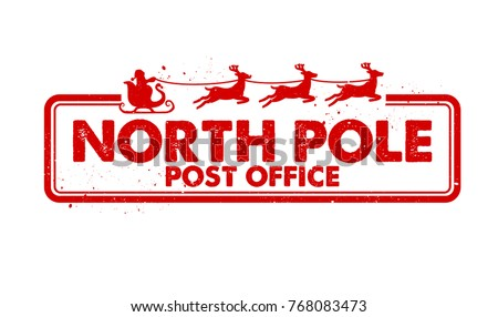 north pole post office rubber