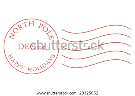 North Pole postmark in muted red dated December 24.