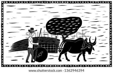 Northeastern Ox Cart Foto stock ©