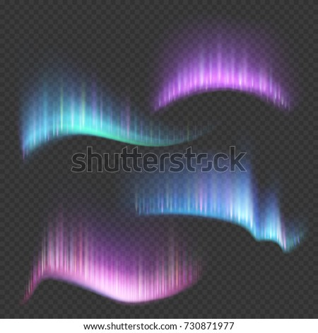 northern aurora lights strips