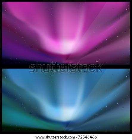 northern blue aurora