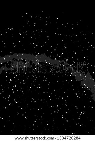 Northern hemisphere constellations, star map. Science astronomy, star chart on black background