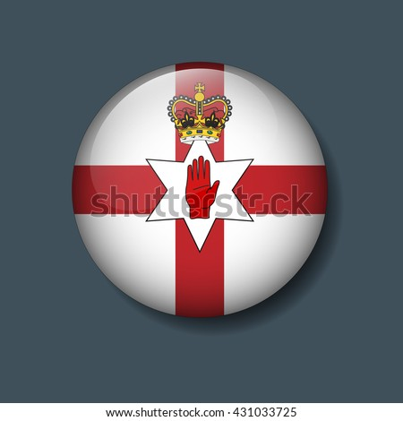 northern ireland flag on button