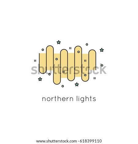 northern lights vector thin