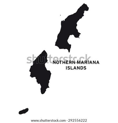 Northern Mariana Islands map vector | Free Image #292556222
