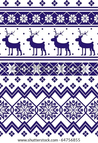 norway christmas seamless - stock vector