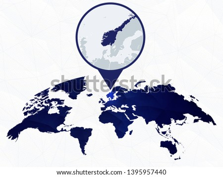 norway detailed map highlighted