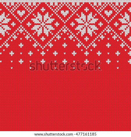 Norway Festive Sweater Fairisle Design. Seamless Knitting Pattern