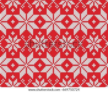 Royalty-free Christmas seamless knitting pattern… #332354432 Stock ...