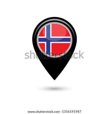 norway flag simple vector