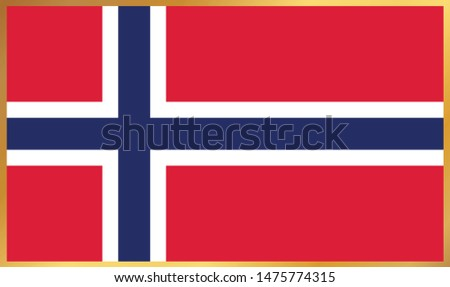 norway flag vector icon design