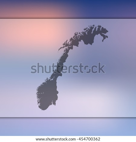 norway map on blurred