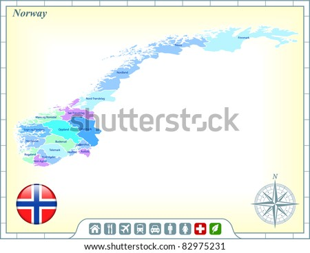 Iconswebsitecom Icons Website Search Icons Icon Set Web Icons - Norway map and flag