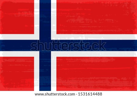 norway national flag isolated