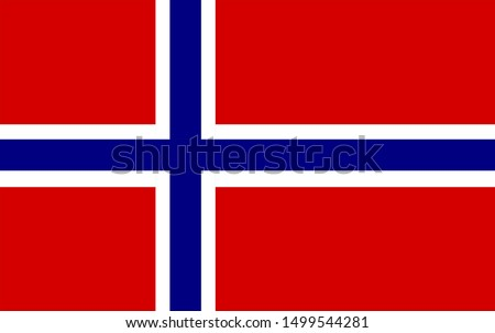 norway original flag on