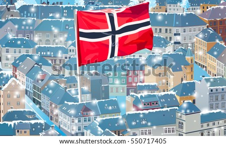 norway traditional city at