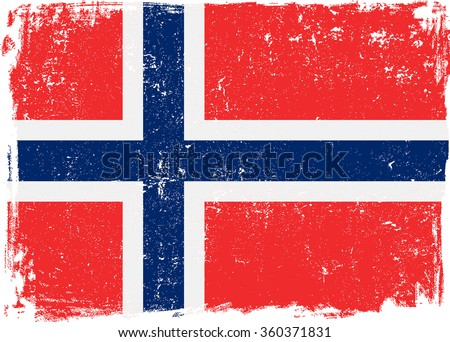 norway vector grunge flag
