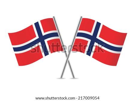 norwegian flags vector