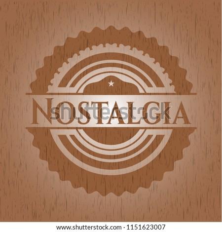Nostalgia wooden emblem. Vintage.