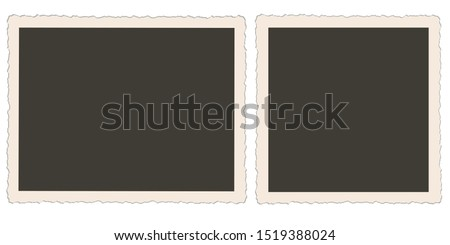 nostalgic photo frames vector