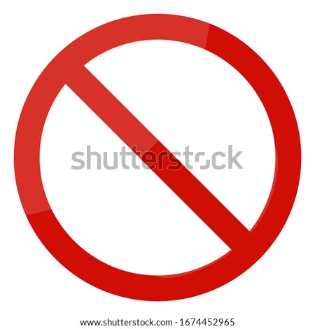 Not allowed sign on white background. Vector illustration Foto d'archivio ©