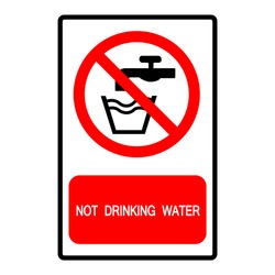 Not Drinking Water Symbol Sign, Vector Illustration, Isolate On White Background Label .EPS10