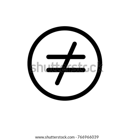 Not equal icon,vector illustration. Flat design style. vector not equal icon illustration isolated on White background, not equal icon Eps10. not equal icons graphic design vector symbols.