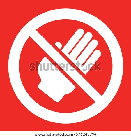 not touch sign vector