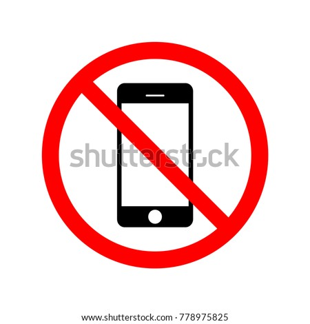 Not use mobile phone. Sign, symbol, illustration