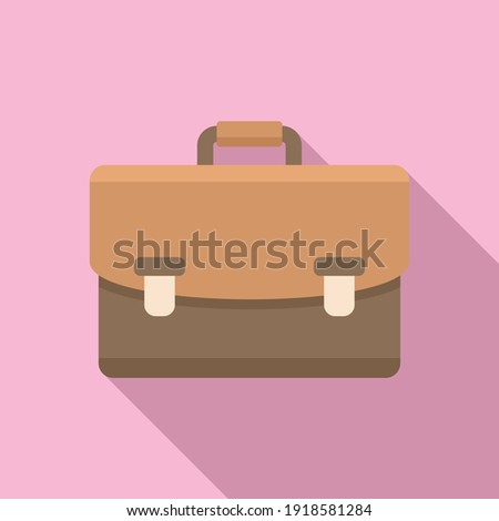 Notary briefcase icon. Flat illustration of notary briefcase vector icon for web design ストックフォト ©