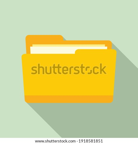 Notary folder icon. Flat illustration of notary folder vector icon for web design