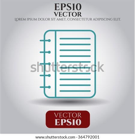 Note Book icon or symbol