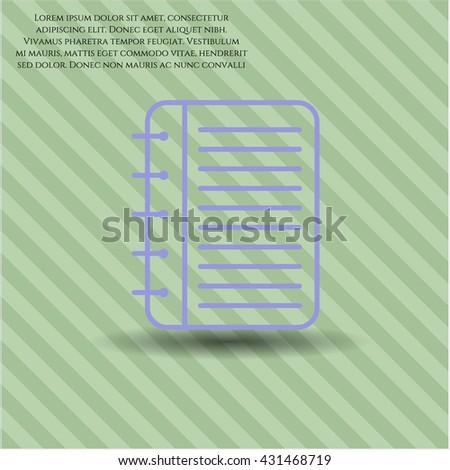 note book icon vector symbol flat eps jpg app web concept