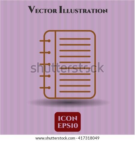 Note Book vector icon