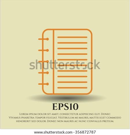 Note Book vector icon or symbol