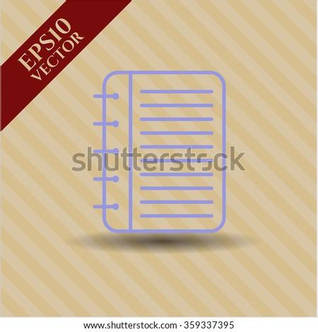 Note Book vector symbol