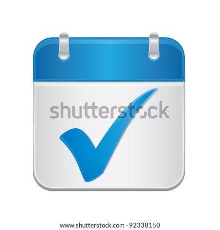 Note book with check mark, web application icons, approved idea business concept, vector illustration