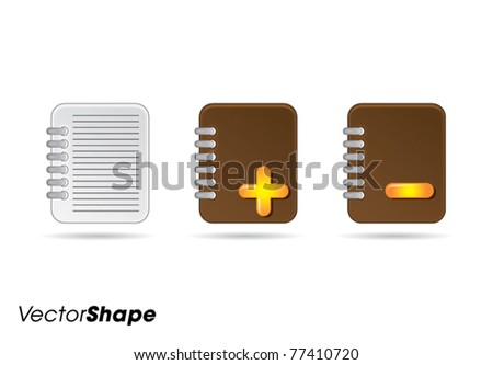 Note books web application icons no.3 vector illustration