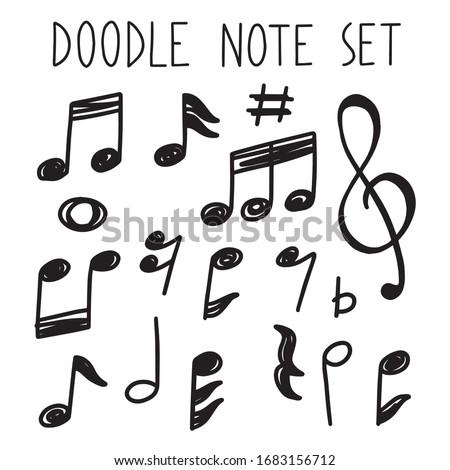 note doodle simple outline set  Foto stock ©
