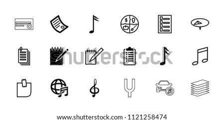 note icon collection of 18