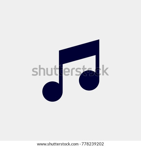 note icon, Vector illustration. music icon