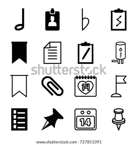 note icons set set of 16 note